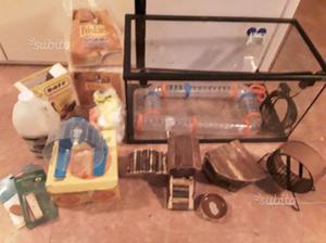 Terrario e accessori in blocco