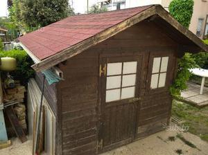 Casetta Da Giardino In Legno Usata : Vendo casetta da giardino in legno posot class