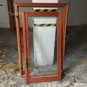 Vendo finestre anni 80 in douglas posot class - Finestre in legno con doppio vetro ...