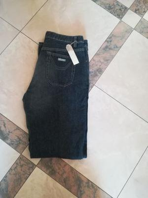 "Jeans nuovi da uomo intarsio neri ""Saax"""