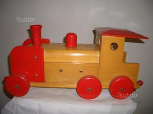 Treno in legno anni '60