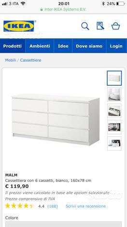 Cassettiera Malm Ikea 3 Cassetti.Cassettiera Ikea Bianca Perfetto Posot Class