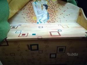 Divano panca in legno usata portaoggetti posot class - Panca portaoggetti ...