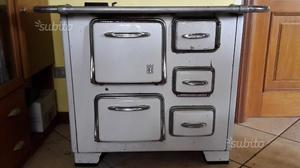 Stufa Cucina a legna bianca Vintage REX