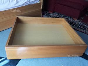 Cassetti Contenitori Sotto Letto : Cassetto contenitore legno con rotelle sotto letto posot class