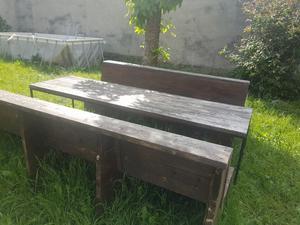 Tavolo e due panche legno