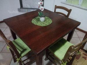 Tavolo legno massello sala 100x100