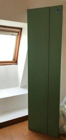 paravento/separè in legno impiallicciato in formica verde