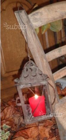 Antica lanterna a candela