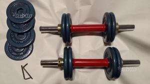 COPPIA Manubri pesi palestra set fitness bicipite
