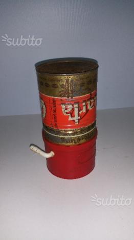 Scatola in latta anni 60 caffè Quarta