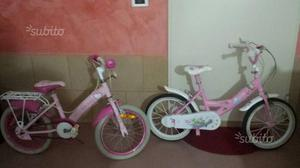 Due biciclette per bimba di circa 6 anni