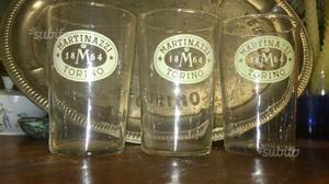 3 bicchieri vintage da bar Martinazzi  Torino