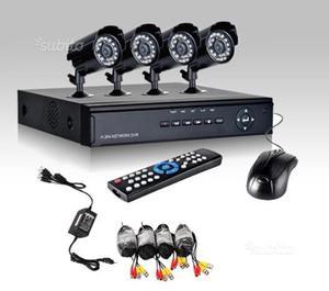 Kit DVR Completo Analogico o AHD 4/8 Telecamere