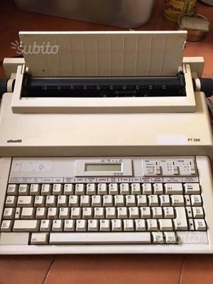 Macchina da scrivere elettrica Olivetti PT 506
