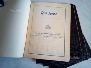 Quaderni quadretti anni 40 vintage