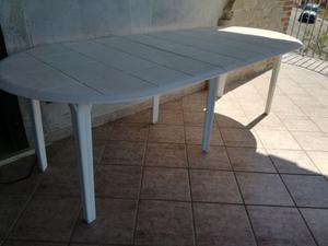 Tavolo da giardino in resina + carrello in resina