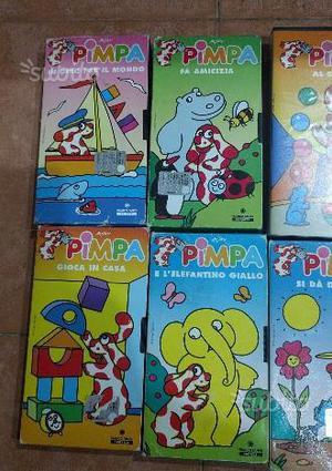 VHS cartoni animati di PIMPA disegnata da ALTAN
