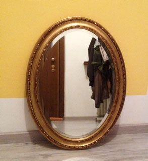 Specchio specchiera ovale da parete posot class - Specchio ovale ikea ...