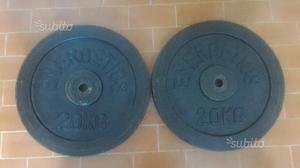 Dischi ghisa 2 x 20 kg totale 40 kg pesi palestra
