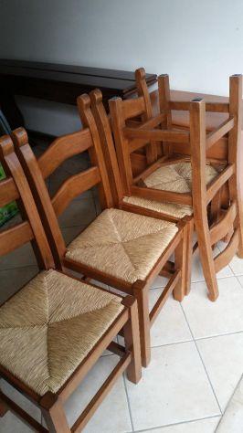 Sedie rustiche impagliate in legno massello