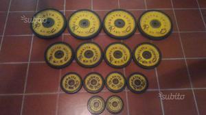 Set completo dischi in ghisa gommati PANATTA 70kg
