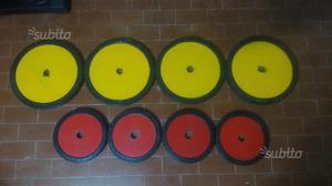 Set dischi in ghisa gommati pesi 60kg palestra