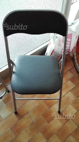 2 sedie pieghevoli da esterno