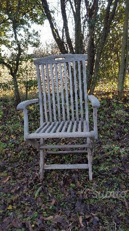 4 sedie da giardino in legno