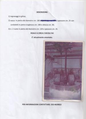 FRANTOIO IN PIETRA E GHISA