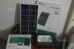 Faro led smd energia solare pannello crepuscolare