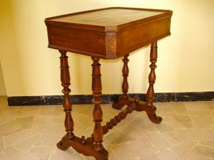 Tavolino Consolle antico '800 in noce, in patina originale