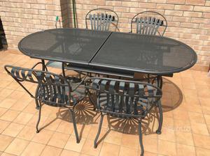 Vecchio tavolo in ferro da esterno vintage posot class for Tavolo ferro esterno