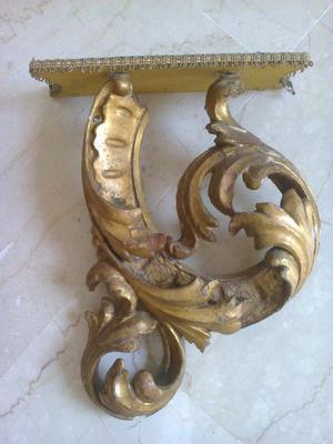 mensolina in legno dorato