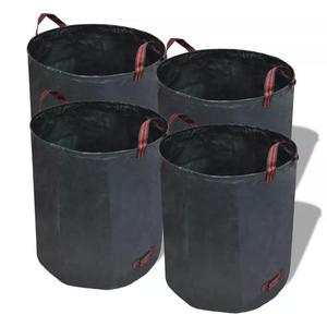 vidaXL Sacco da giardino per rifiuti verde scuro 4 pezzi 272