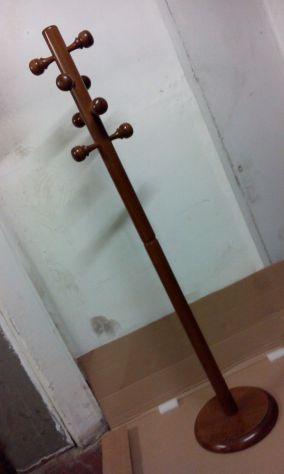 Appendiabiti in legno massello, color noce, 175 cm