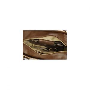 Borsa a tracolla in pelle beige Nunzia Palmieri