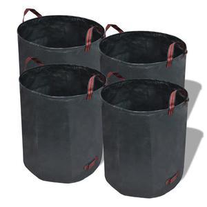 vidaXL Sacco da giardino per rifiuti verde scuro 4 pezzi 120