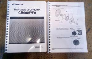 Manuale di Officina Honda Hornet CB 600F/FA
