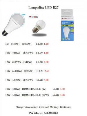 V-Tac lampadine LED, fari, faretti LED in stock