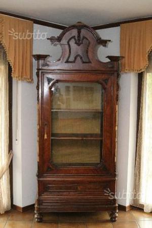 Antica Vetrinetta in legno di noce
