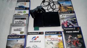 PlayStation 2 slim con 10 giochi di guida