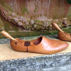 Vecchia Forma scarpe in legno vintage