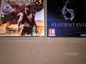 Giochi ps3 uncharted resident evil playstation