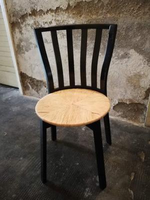 4 sedie in legno colore nero