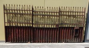 Cancello 3 ante in ferro battuto