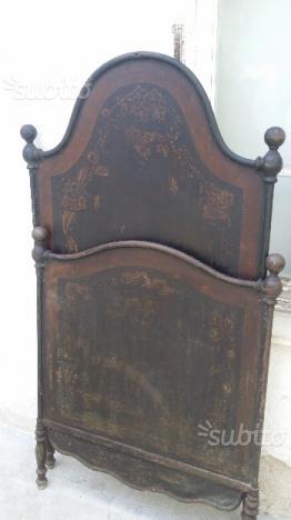 Letto antico in ferro battuto - fine 800