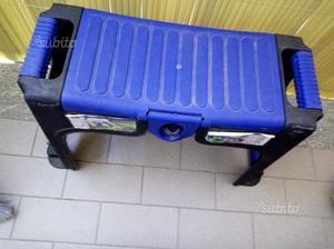 Sgabello da officina con rotelle e vano posot class