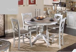 Tavolo e 4 sedie stile shabby