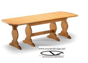 tavoli allungabili cod 725, costruiti interamente in legno